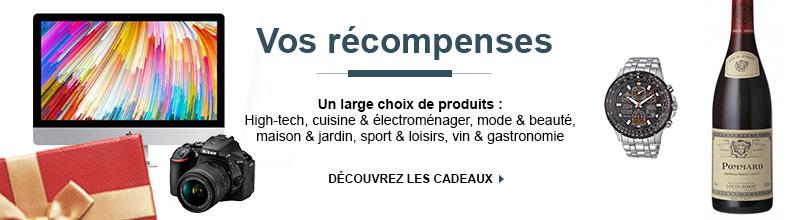 Découvrez tous les produits : High-tech, cuisine & électroménager, mode & beauté, maison & jardin, sport & loisirs, vin & gastronomie