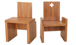 Ensemble chauffeuse fauteuil, mobiliers de culte
